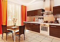 Кухня на заказ МДФ шпонированный 028