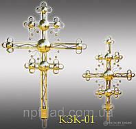 Крест православный с напылением нитрид титана КЗК