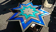 Звезда 4-х цветная из нержавеющей стали с напылением нитридом титана