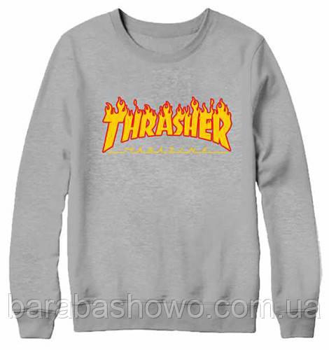 Thrasher. Свитшот Трешер white