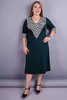 Аврора. Красивое женское платье для женщин больших размеров. Бутылка. 52