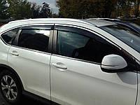 Дефлекторы окон с хром молдингом из нерж. стали Honda CR-V 2013- BGT КАЧЕСТВО!
