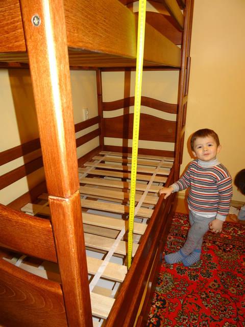 Ліжко висота між ярусами 80 см