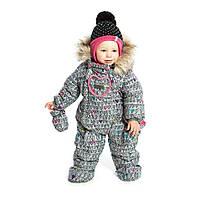Зимний термокомбинезон для девочки NANO 18 мес. р. 82-86 ТМ Nanö Frost Grey F17 M 474