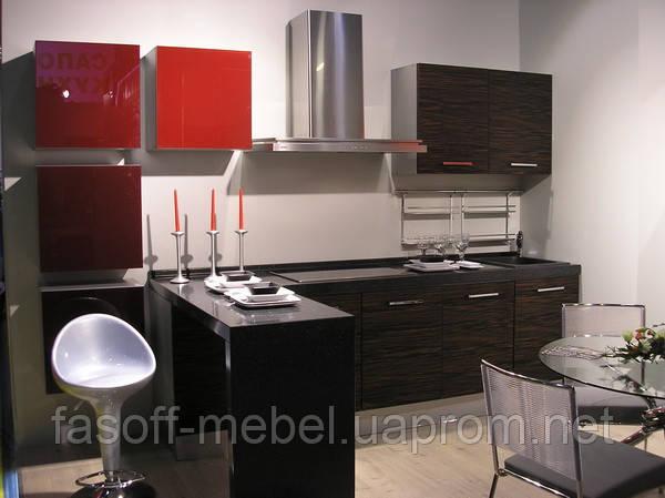 Кухня МДФ шпонированный + краска 033
