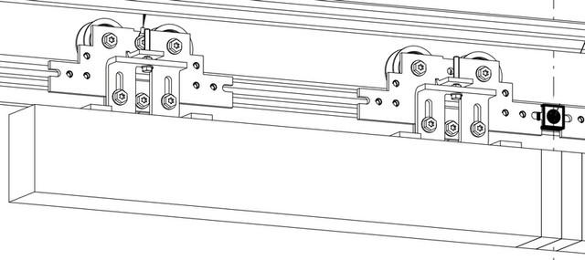 Каждая каретка имеет комплект роликов: два главных, больших и один упорный (контр-ролик), предназначен для предотвращения схождения кареток с направляющего ...