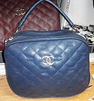 Женский стёганый клатч Chanel (Шанель), синий
