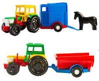 Игрушечная машина Трактор с прицепом 39215 ТМ Wader