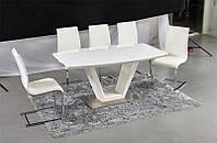Стол нераскладной Venice 160*90*76 белый, столешница МДФ современный стол в стиле хай-тек или модерн