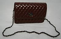 Клатч женский Chanel (Шанель), стеганый коричневый