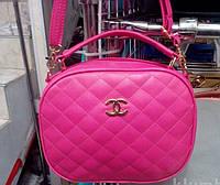Женский стёганый клатч Chanel (Шанель), розовый