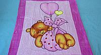 Микрофибровая простынь, покрывало Elway детское (127х152см) Мишка на шаре(розовый)