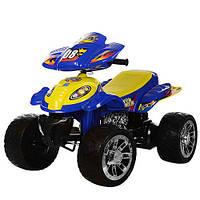 Квадроцикл M 2403ER-4 2 мотори 28W, 2 акум. 6V7AH, EVA колеса, перемикач швидкостей ,синій.