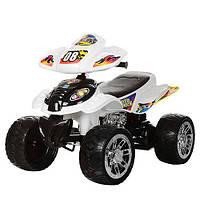 Квадроцикл M 2403ER-1-2 2 мотори 28W, 2 акум. 6V7AH, EVA колеса, перемикач швид., чорно-білий.