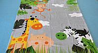 Микрофибровая простынь, покрывало Elway детское (127х152см) Африка