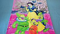 Микрофибровая простынь, покрывало Elway детское (127х152см) Белоснежка и семь гномов