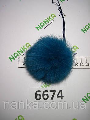 Меховой помпон Кролик, Изумруд, 9 см,  6674, фото 2