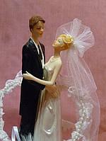 Свадебная статуэтка жених и невеста музыкальная 20 см высота