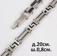 Мужской стальной браслет на руку - лабиринт