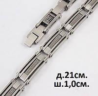 Мужской стальной браслет на руку - трос