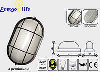 Светильник LEMANSO овальный60W с металлической решеткойBL-1402 белый / черный