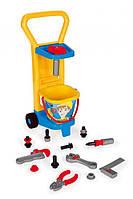 Детский игровой набор Wader 10776 Тележка Маленький механик  , фото 1