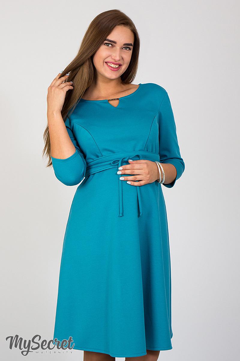 af7fdaf38582 Женственное платье для беременных и кормящих Sunny, морская волна, фото 1