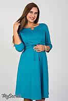 Женственное платье для беременных и кормящих Sunny, морская волна*