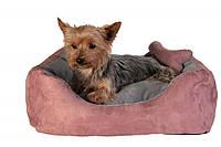 Лежак Trixie Chippy искусственная замша, с косточкой, 50х40 см, фото 1