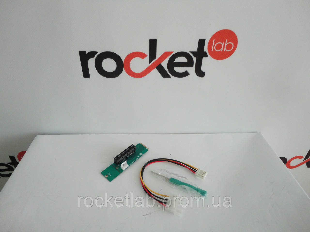 Переходник для видеокарты (адаптер) M2 на PCI-E 4X - RocketLab Лаборатория майнинга в Харькове