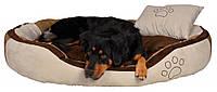 Лежак Trixie Bonzo искусственная замша, коричнево-бежевый, 60х50 см