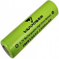 Аккумулятор литиевый Vappower IMR 18650 (3.7V, 35A, 2500mAh)