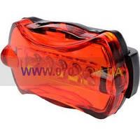 Задний фонарь для велосипеда (5-LED, 7 режимов, 2xAAA)