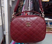 Женский стёганый клатч Chanel (Шанель), бордовый