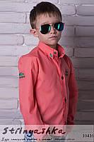 Рубашка на мальчиков Lacoste коралл