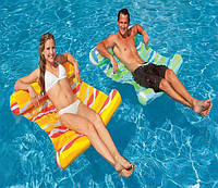 Пляжный надувной матрас-гамак для плавания Intex 137х99 см (58834)