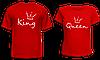 """Парные футболки """"King - Queen"""""""