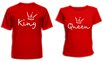 "Парные футболки ""King - Queen"", фото 1"