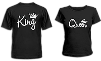 "Парные футболки ""King - Queen #2"", фото 1"