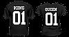 """Парные футболки """"King - Queen #3"""""""