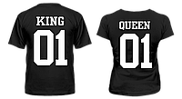 "Парные футболки ""King - Queen #3"", фото 1"