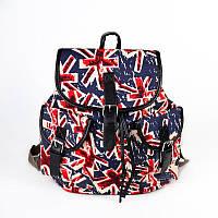 Цветной рюкзак М6769 женский мягкий городской принтом