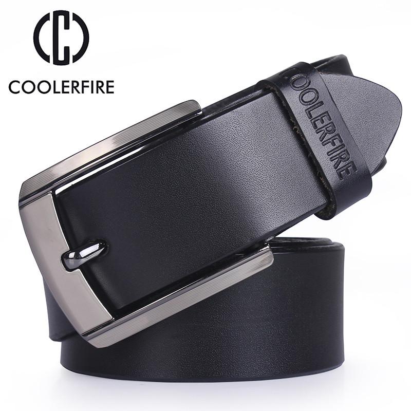 Ремінь чоловічий шкіряний COOLERFIRE модель 1 (чорний)