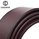 Ремінь чоловічий шкіряний COOLERFIRE модель 1 (чорний), фото 6