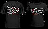 """Парные футболки """"В моем сердце только он"""""""