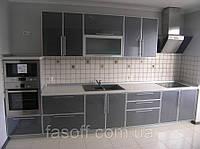 Кухня техно хай-тек МДФ пластик + стекло 038