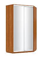 Шкаф купе угловой 1200 на 2 зеркальные двери