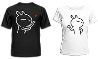 """Парные футболки """"Влюбленные человечки"""", фото 1"""