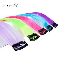 Прядь цветная волосы на заколках