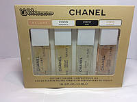 Парфюмерия с феромонами Chanel женские ( Набор Шанель 15мл 4 шт)